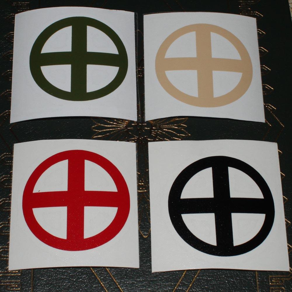 Sunwheel Odins Eye 25 Vinyl Decal Futhark