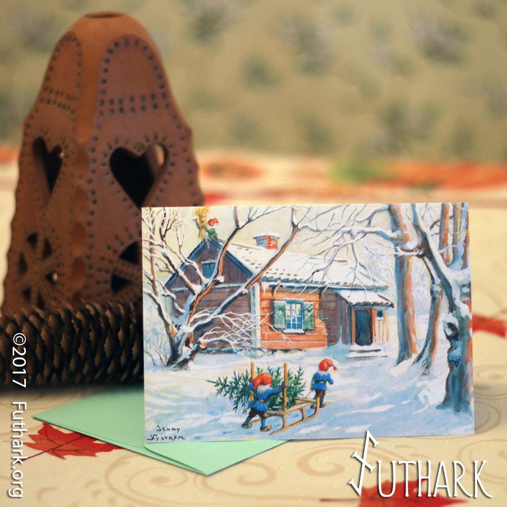 Jultomte gnome yule greeting card futhark jultomte gnome yule greeting card kristyandbryce Choice Image